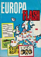 "§ ALBUM FIGURINE COMPLETO  ""EUROPA FLASH"" ED. LAMPO - 198 FIG. + 40 BANDIERE"