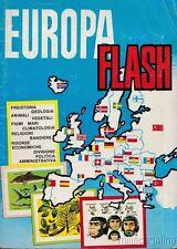 """§ ALBUM FIGURINE COMPLETO  """"EUROPA FLASH"""" ED. LAMPO - 198 FIG. + 40 BANDIERE"""