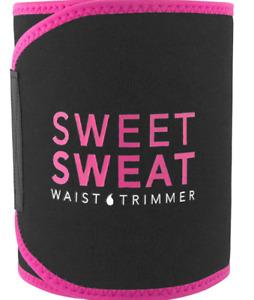 Sweet Sweat Waist Trimmer Black Premium Waist Trainer for Men Women MEDIUM, Pink