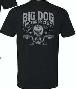 Big Dog Motorcycles Skull Rider T-Shirt - L, XL, 2XL (Black)