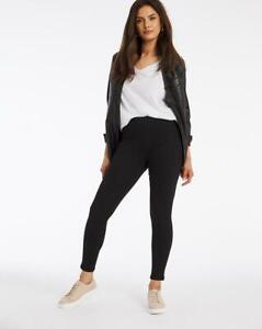 Amber Black Pull On Skinny Jeggings - UK 14S - Womens