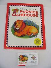 "Scholastic Teacher Book + cassette 1998 Phonics Clubhouse Workbook 8.5""x10.5"""