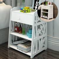 Bedside Tables Cabinet  Drawer Night Stand Storage Furniture Shelf Cupboard UK