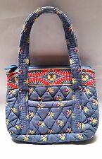Vera Bradley Handbag Purse Quilted Blue Floral Little Bitty Betsy Women Fashion