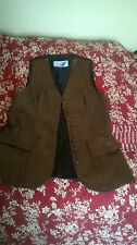 Faux leather, full length buttoned fitted Waistecoat