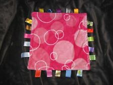 "Taggies Pink Circles Bubbles 12"" Lovey Security Blanket"
