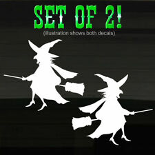 """Wicked Witch Broomstick Decals Stickers 7"""" Witches Halloween Vinal Vinyl Grafix"""