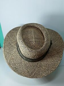 Dorfman Pacific Scala Pro Series Golf Hat L/XL 100% Straw Handmade