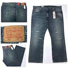 New LEVI'S 527 Slim Bootcut Leg Men's Distressed Jeans Medium Wash Sz 44X30