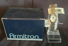 ARMITRON WOMEN'S DIAMOND WATCH MOTHER OF PEARL DIAL 75/3545TT Y121E NEW