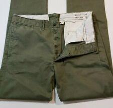 RRL Ralph Lauren Double Rl Verde Oliva Pantalones Pantalones Chino campo oficiales Talla 34