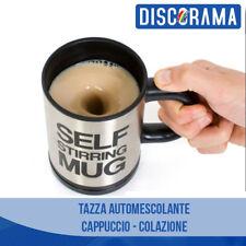 TAZZA AUTOMESCOLANTE BICCHIERE SELF MUG SHAKER CAPPUCCINO LATTE COLAZIONE CAFFE'