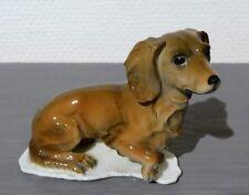 Kaiser Porzellan Figur Dackel - Dachshund - Teckel, sitzend, 60-70ziger Jahre