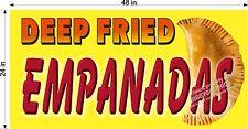 2' X 4' VINYL BANNER DEEP FRIED EMPANADA EMPANADAS FULL COLOR GRAPHICS  NEW!
