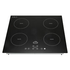 New listing Anmashome 23inch 220V 6800W Induction Hob 4 Burner Stoves Glass Plate Cooktops