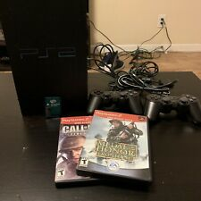 SONY PLAYSTATION 2 PS2 Fat Console with 2 Controllers And 2 Games