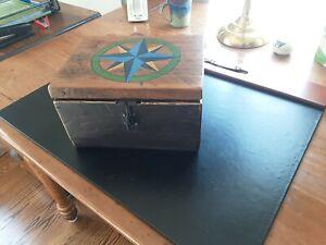 FOLK ART STYLE SAILOR'S DITTY BOX