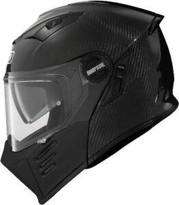 SIMPSON DARKSOME BANDIT CARBON FIBRE FLIP FRONT MOTORCYCLE CRASH HELMET SIZE XL