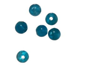 4x Apatit gebohrt //4114s facettierte Kugeln 5 mm meerblau