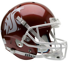 WASHINGTON STATE COUGARS SCARLET SCHUTT XP FULL SIZE REPLICA FOOTBALL HELMET