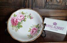 "Vintage Royal Albert ""American Beauty"" Pink Flowers Small Fruit Bowl 5.5"" 2"""