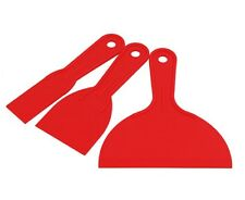 3pc Plastic Putty Knife / Spreader / Scraper Set - 38mm, 74mm & 152mm Wide
