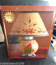 Lenox Winter Greetings Everyday Candle Lamp w Cardinal Bird Motif New IOB