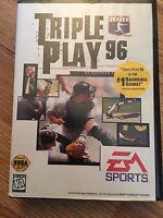 Triple Play Baseball Sega Genesis Cib Game Complete Works SG2