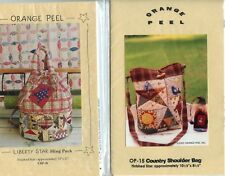 Purse Sewing Patterns Peel  Liberty Star Sling Pack and Shoulder Bag