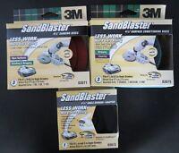 3M 03071 03073 03075 SandBlaster Auto Angle Grinder Adapter Set 3pcs USA