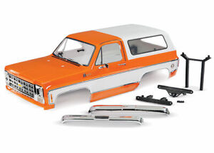 Traxxas 8130X Body Chevrolet Blazer 1979 complete Orange includes grille Mirror