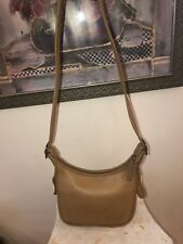 Vintage Coach Legacy 9950 Tan Thick Leather Crossbody Bag Adjustable Strap
