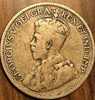 1927 CANADA SILVER 25 CENTS COIN