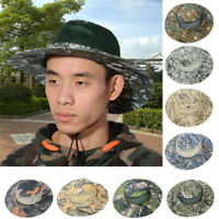 Bucket Hat Boonie Hunting Fishing Outdoor Cap Wide Brim Military Sun Camo Hot