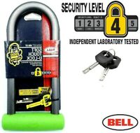 BELL D / U Shaped Bike Lock Cycle. Bicycle. Motorbike, Scooter & Bmx Security
