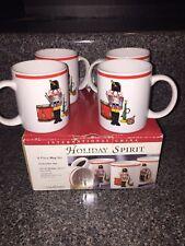 Lot of 4 Bob Timberlake International China Mugs Nutcracker Holiday Spirit