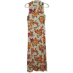 Women's Vintage Victoria's Secret Sheer Floral Maxi Dress Size Medium