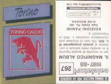 CALCIATORI PANINI 1987/88* FIGURINA STICKER N.267* SCUDETTO TORINO