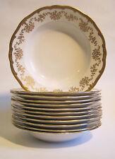 "Weimar Porcelain ""Katharina"" 8 5/16"" Soup Bowl White Gold Encrusted Germany"