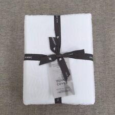 West Elm 400-Thread-Count Organic Diamond Stripe Sateen Duvet Cover King white