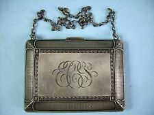 "Antique William B Kerr Sterling Silver Coin Purse Monogrammed ""ECS"""