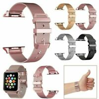 For Apple Watch Buckle Strap Band 38/40/42/44mm 1 2 3 4 Stainless Steel Bracelet