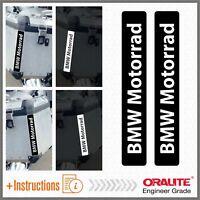 2x BMW Motorrad Black REFLECTIVE ADESIVI PEGATINA R 1200 1150 F800 F650 F700 GS
