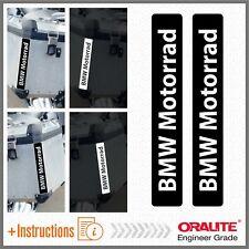 2x BMW Motocicleta Black REFLEXIVO ADHESIVOS PEGATINA R 1200 1150 F800 F650 F700