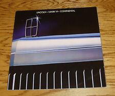 Original 1983 Lincoln Full Line Deluxe Sales Brochure 83 Mark VI Continental