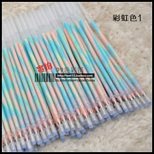 100 PCS GEL INK PEN REFILL REPLACE CARTRIDGE MOVEMENTS Rainbow Color