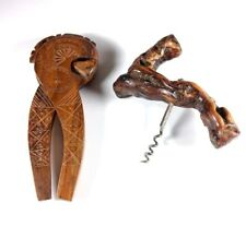 Burl Corkscrew Botle Opener and Nut cracker Vintage Gift Idea Wine and Nuts