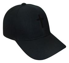 Christian Cross Religious Theme Baseball Cap Caps Hat Hats God Jesus Black Black