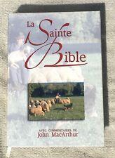 French Bible, MacArthur Study Bible, Revised Segond, La Sainte Bible damaged