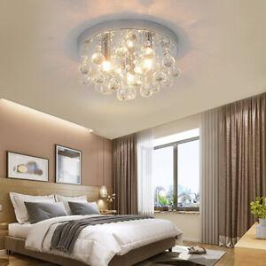 Ceiling Chandelier Style Modern Lamp Light Shade Pendant Crystal Bead Lights UK